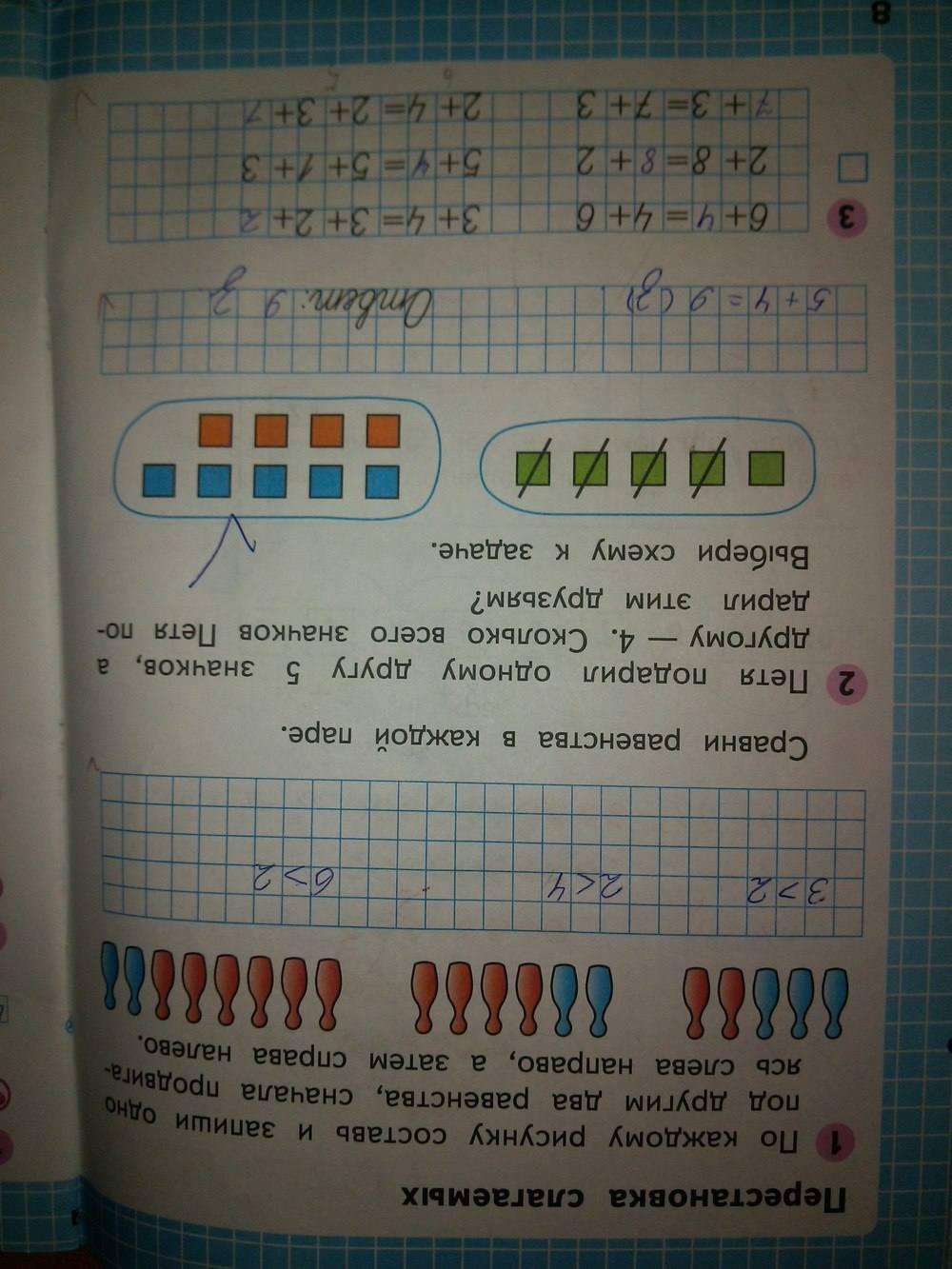 часть и класс 1 ответы гдз моро волкова 1