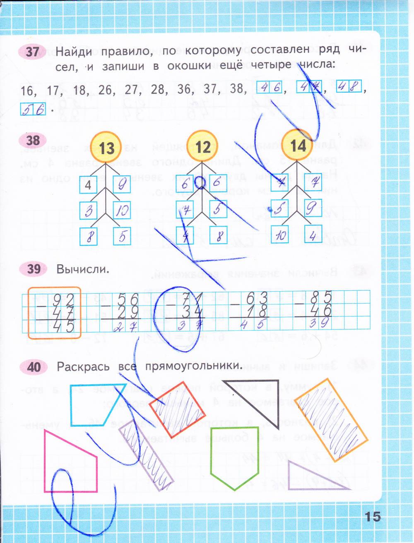 Готовые задания моро тетрадь по класс домашние 2 математика рабочая