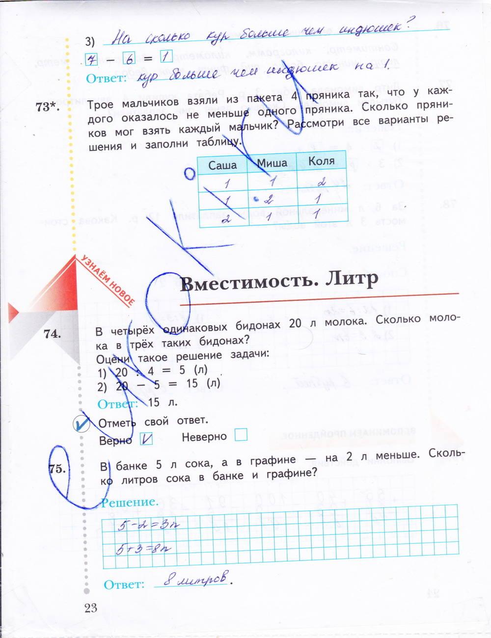 Рудницкая тетрадь рабочая юдачева математика 3 1 класса гдз