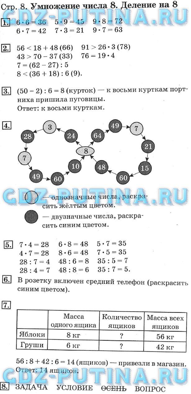 Гдз математика 2 класс дорофеев миракова 2 часть ответы