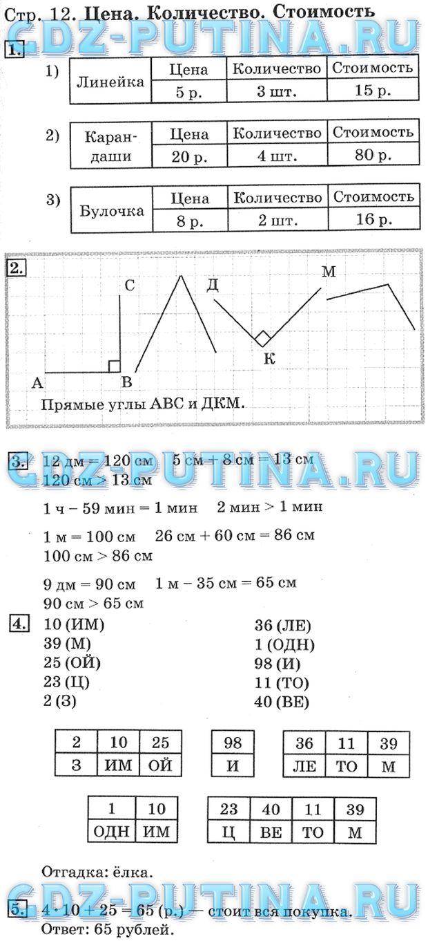 По 1 часть учебник решебник класс математике 4 дорофеева