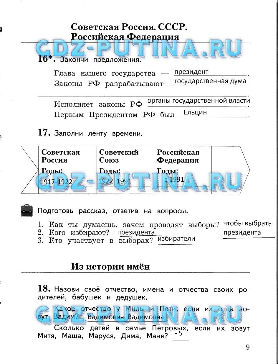 Гдз по русскому языку виноградова рабочая тетрадь