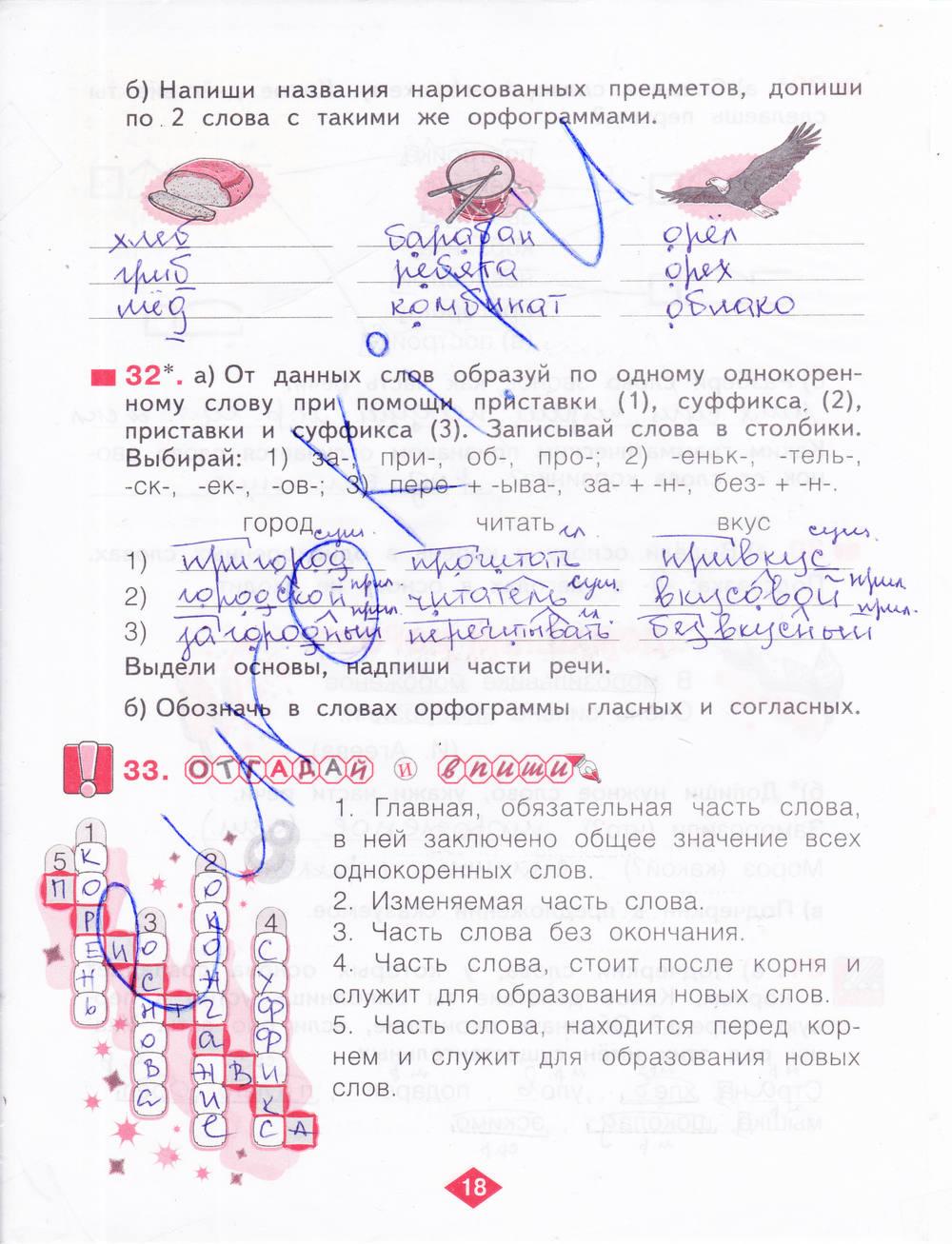 класс гдз по русскому воскресенская 7