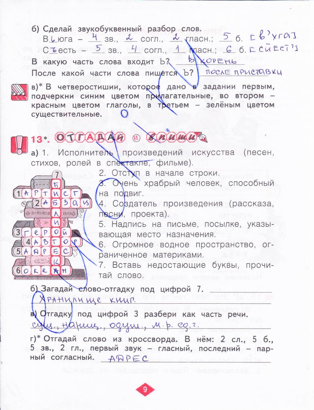 русский язык 3 класс нечаева воскресенская решебник