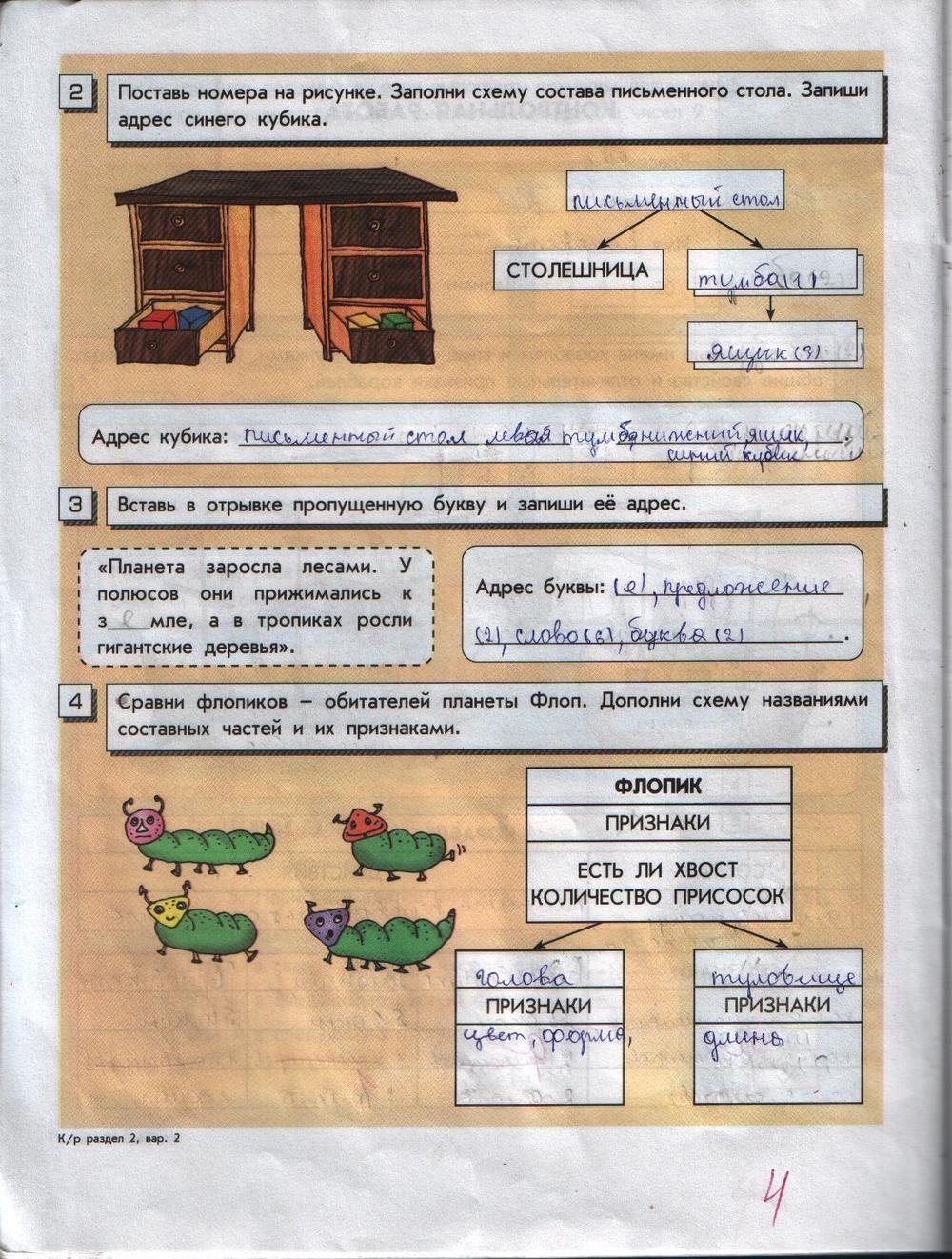 Рабочая тетрадь часть 1 ответы горячев класс решебник информатика ответы 4