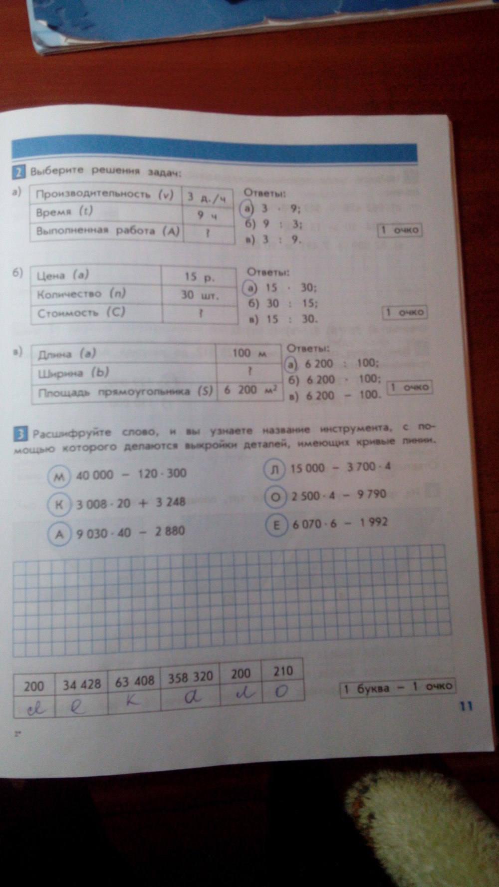 ответы контрольные работы по математике 4 класс козлова рубин ответы гдз