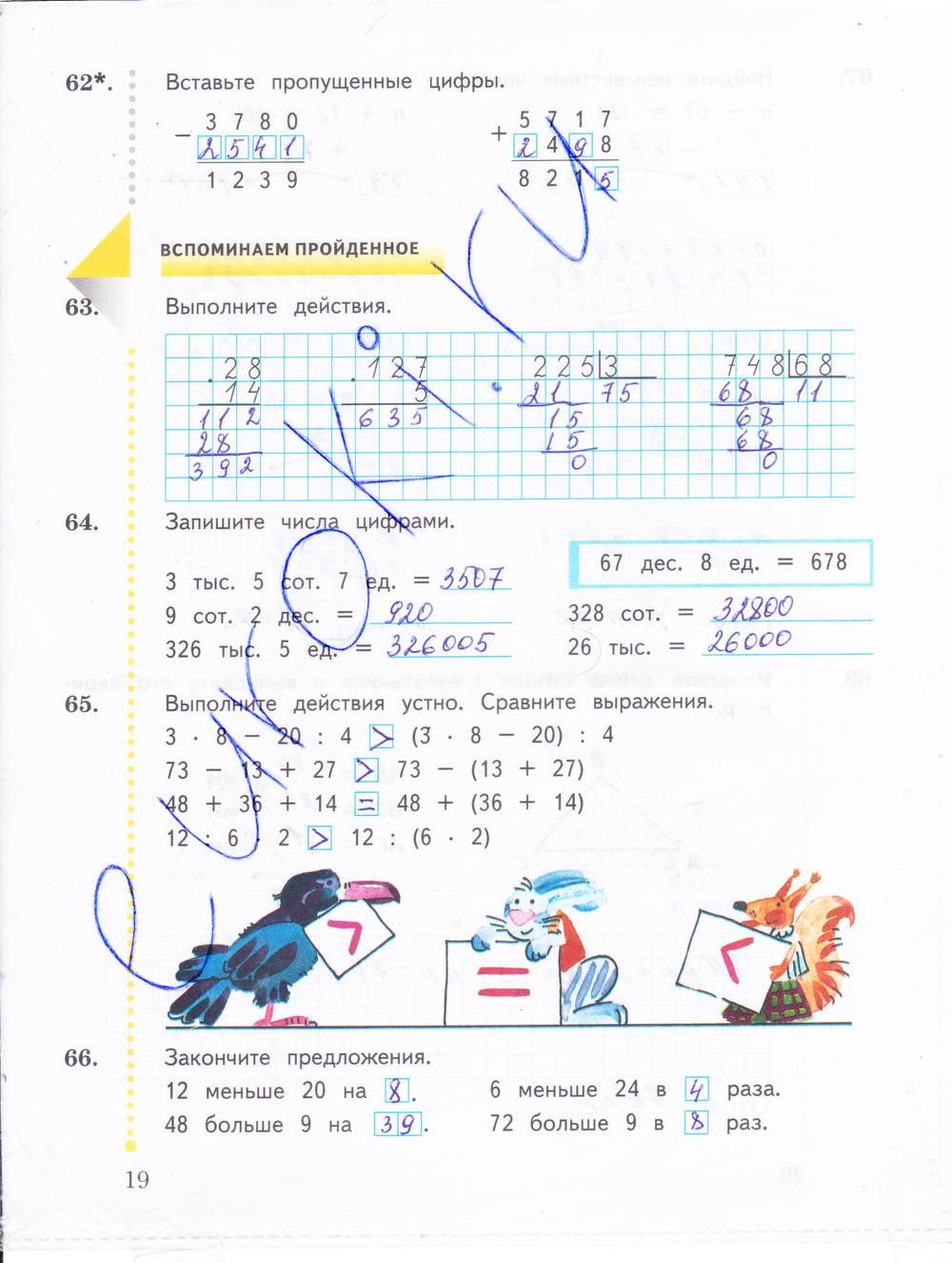 Рабочая юдачева гдз по класс тетрадь математика 4 рудницкая