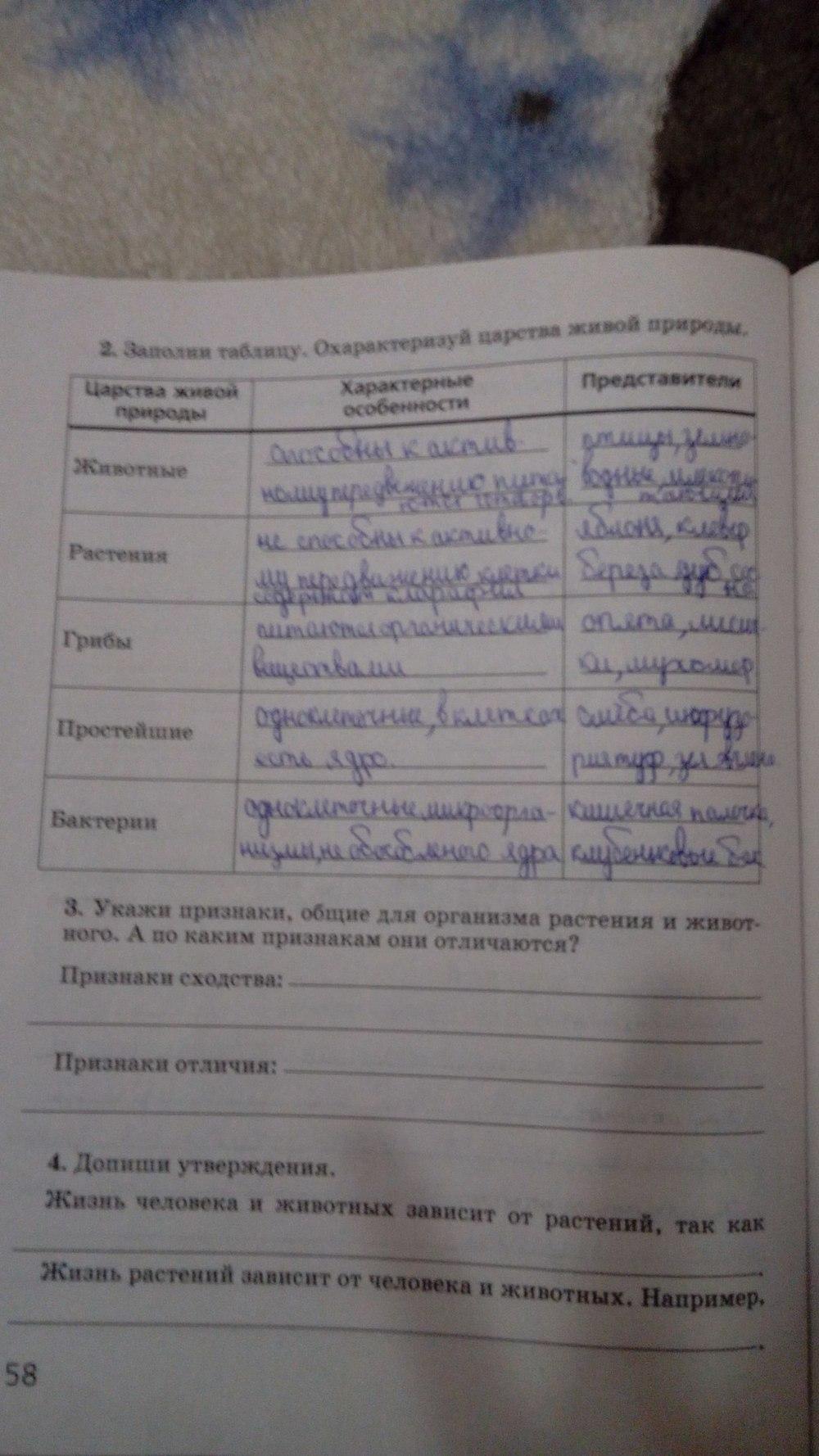 Гдз 5 Класс Биология Суматохин Рабочая Тетрадь