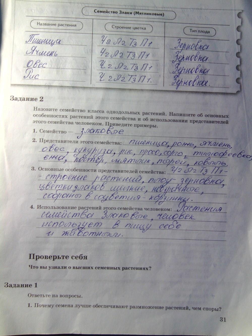 6 пономарева кучменко на биологию корнилова класс гдз