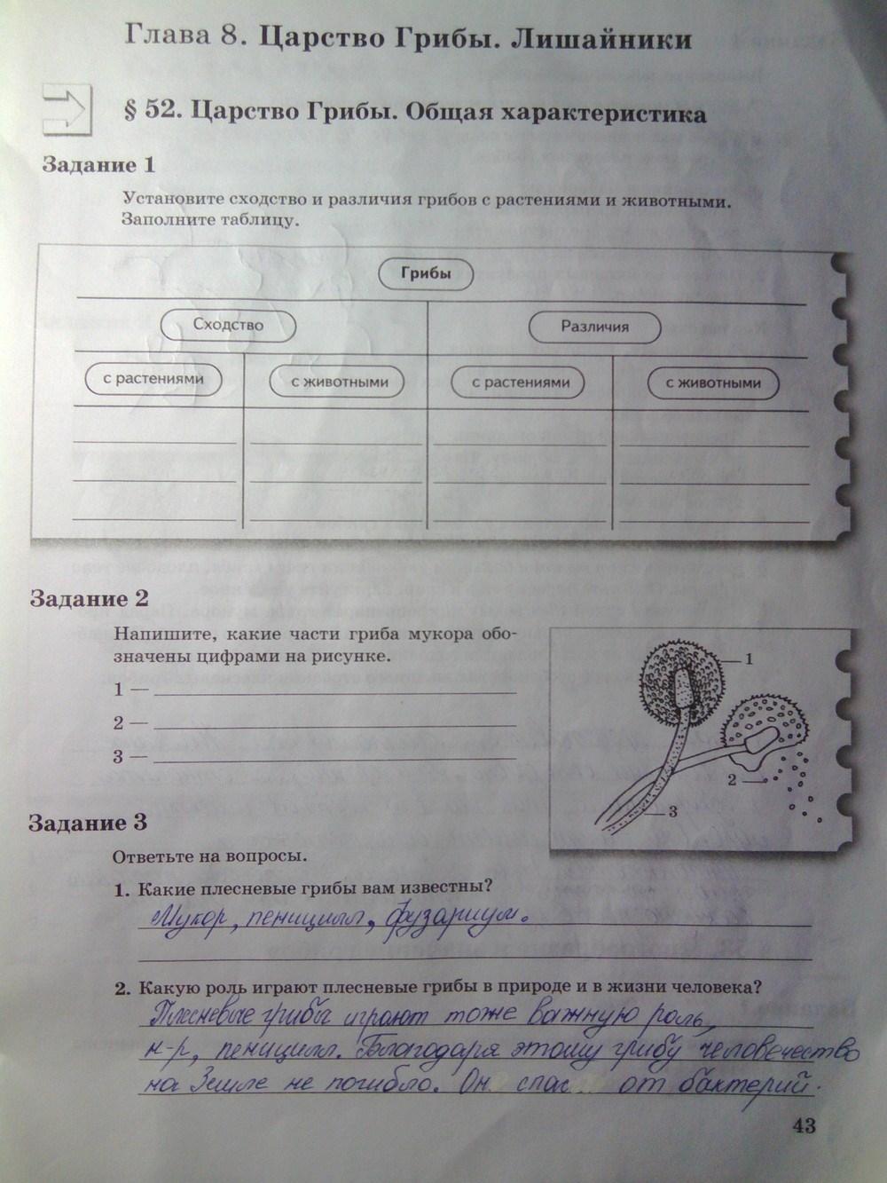 Гдз биология 6 класс пономарева скачать