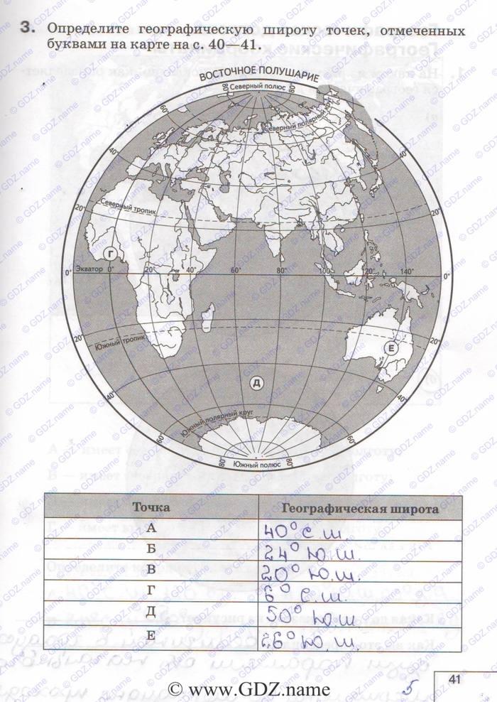 Гдз по географии 6 класс карташева ответы