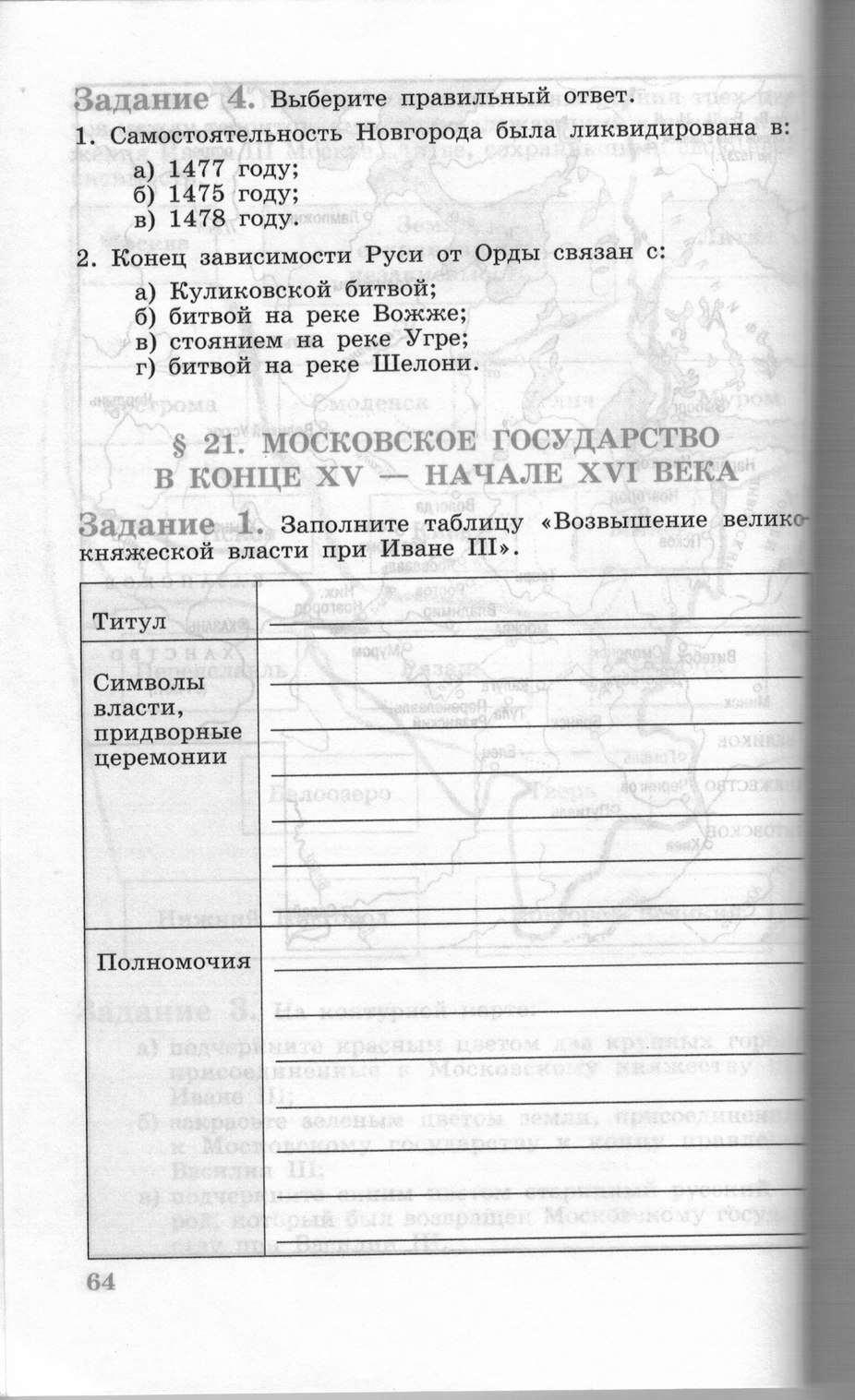 История 6 Класс Данилов Косулина Тетрадь Решебник
