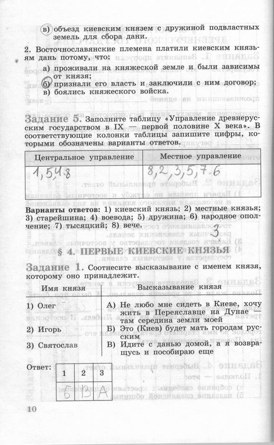 Гдз по истории россии 8 класс данилов косулина тестовые задания
