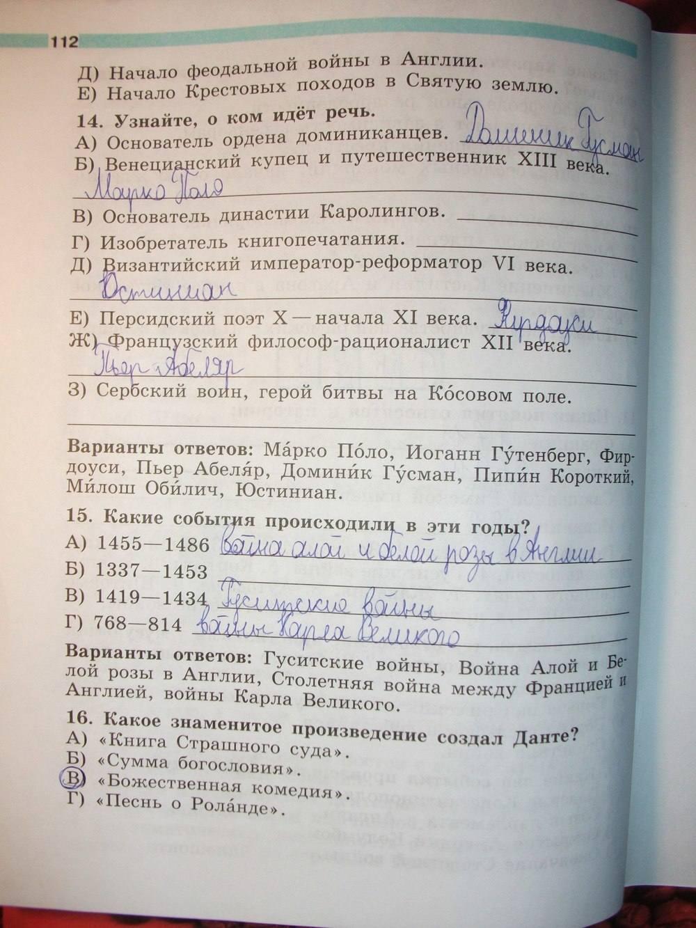 Гдз По Истории 6 Класс Учебник Ответы На Вопросы Ведюшкин Ответы