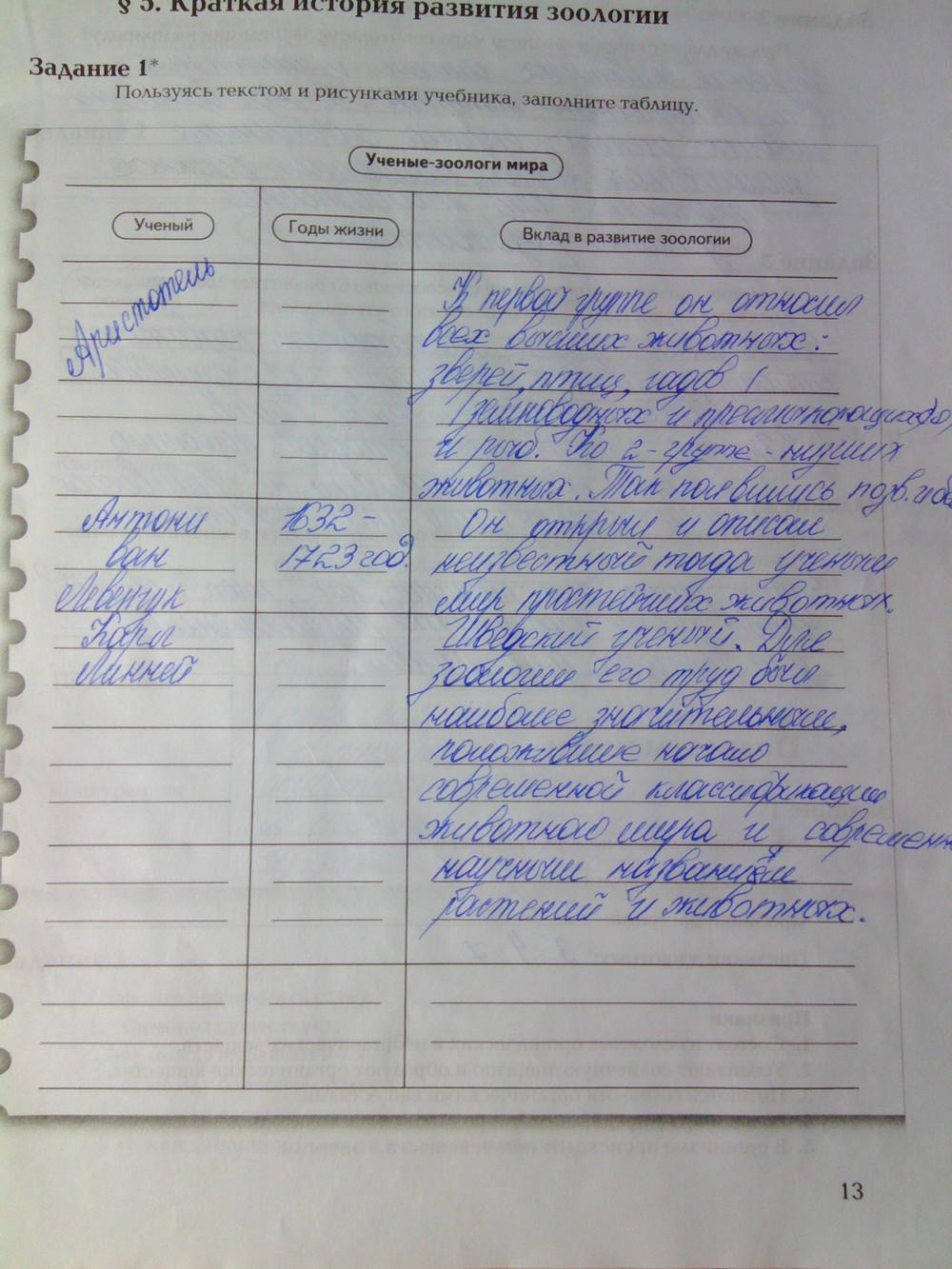 класс суматохин в биология гдз в с с 7