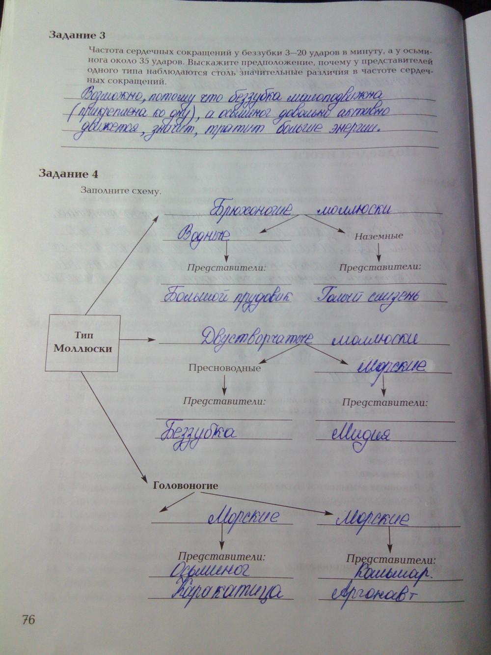 Рабочая тетрадь биология суматохин кучменко решебники