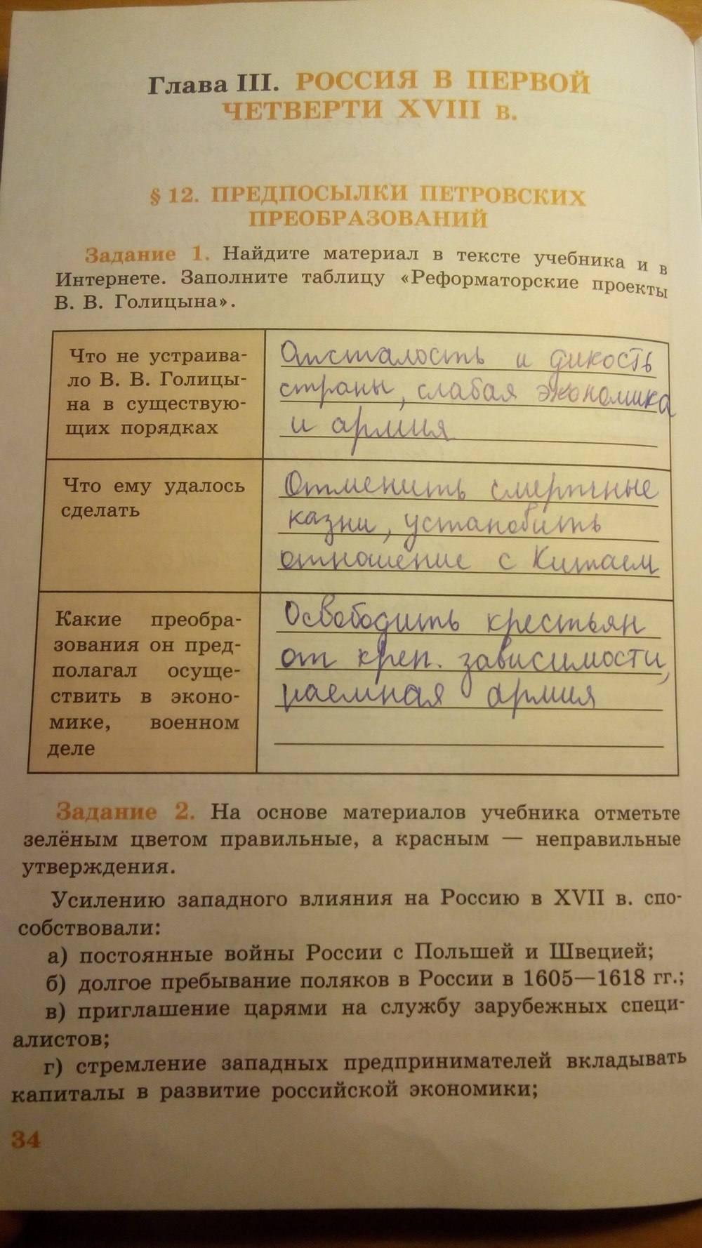 гдз по истории россии 7 класса рабочая тетрадь данилов 2019