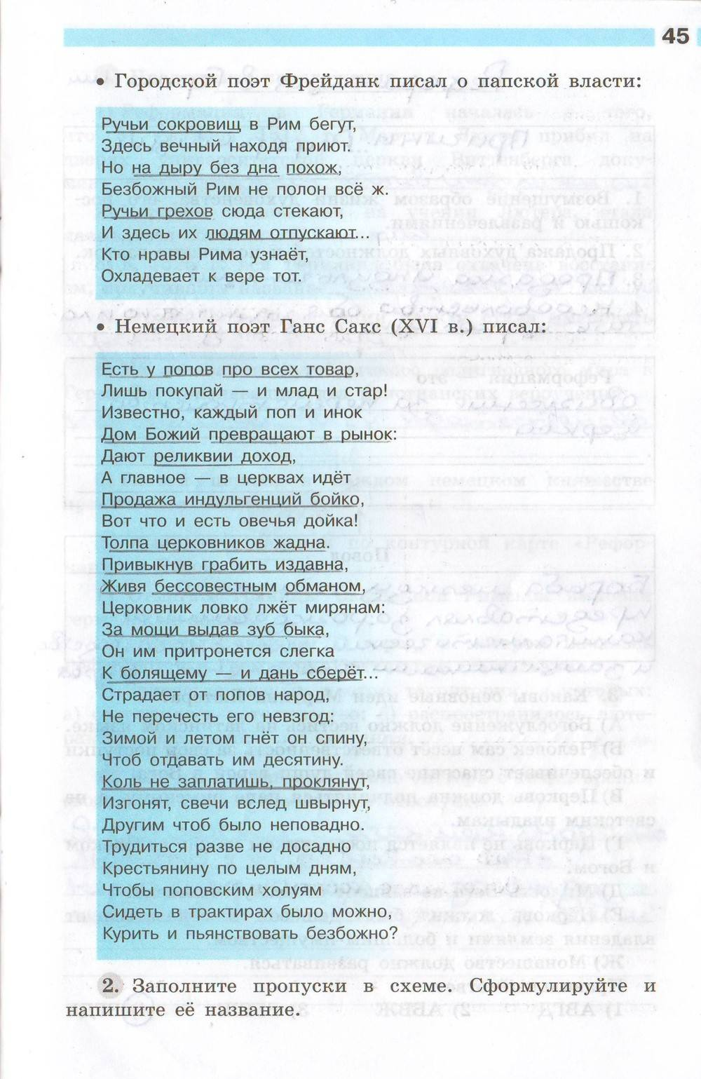 Истории учебнику решебник баранов класс по 7