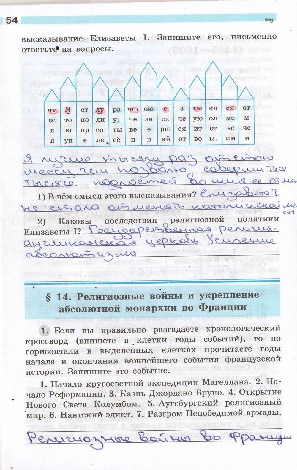 времени баранов нового класс истории по ванюшкин 7 юдовская решебник