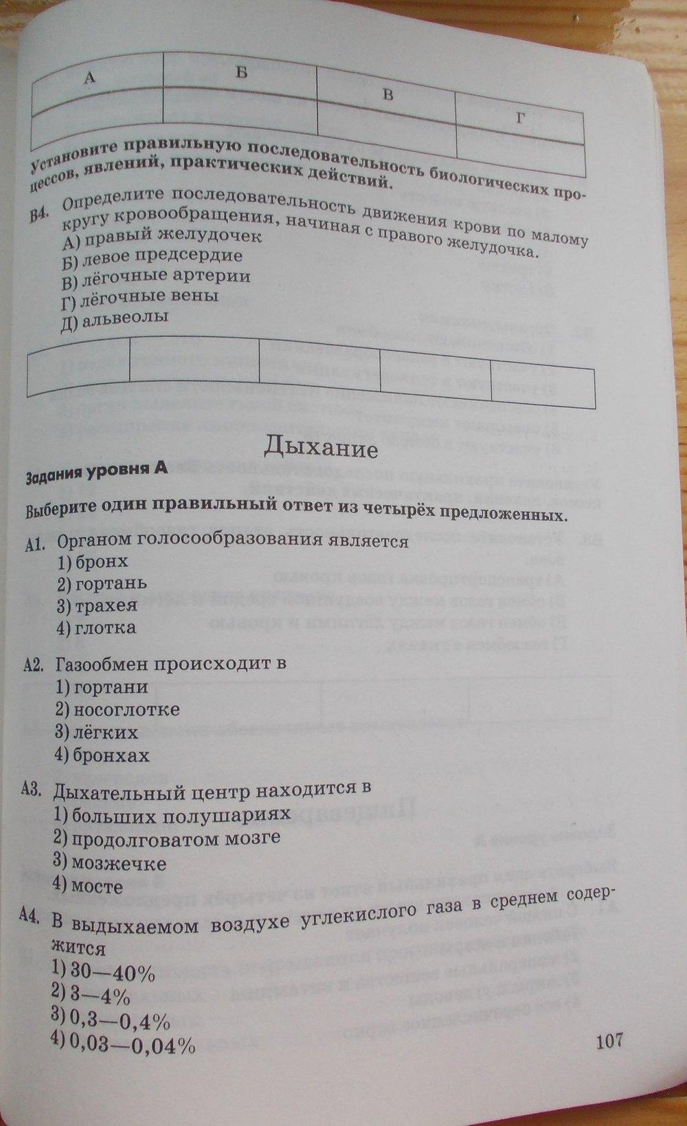 учебник на ответы биологии колесов 8 класс по гдз
