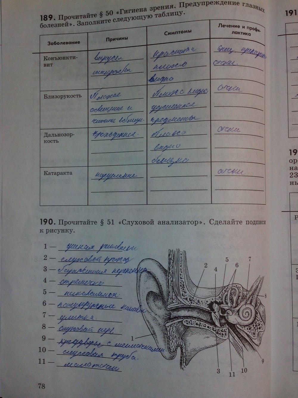 гдз по биологии колесова маша беляева 8 класс