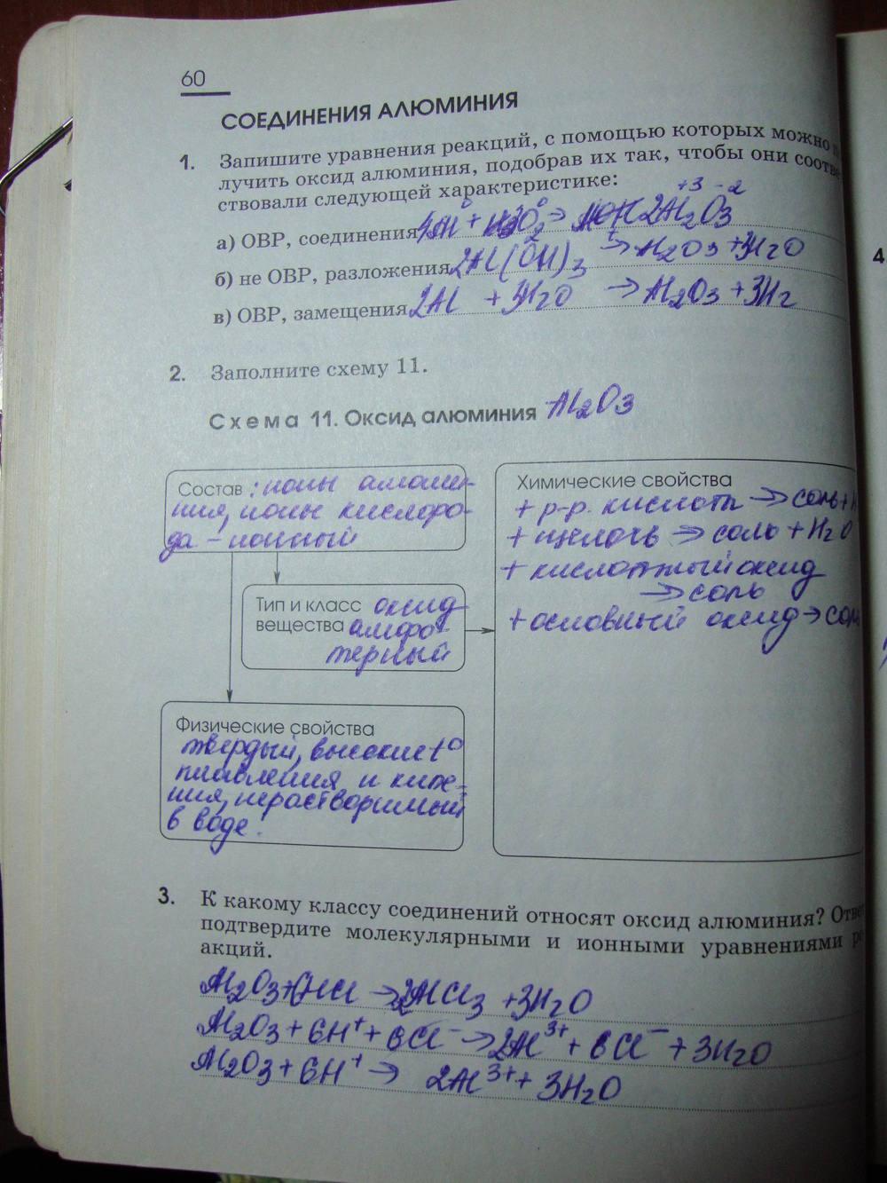 Габриелян Химия 11 Класс Печатная Тетрадь Гдз