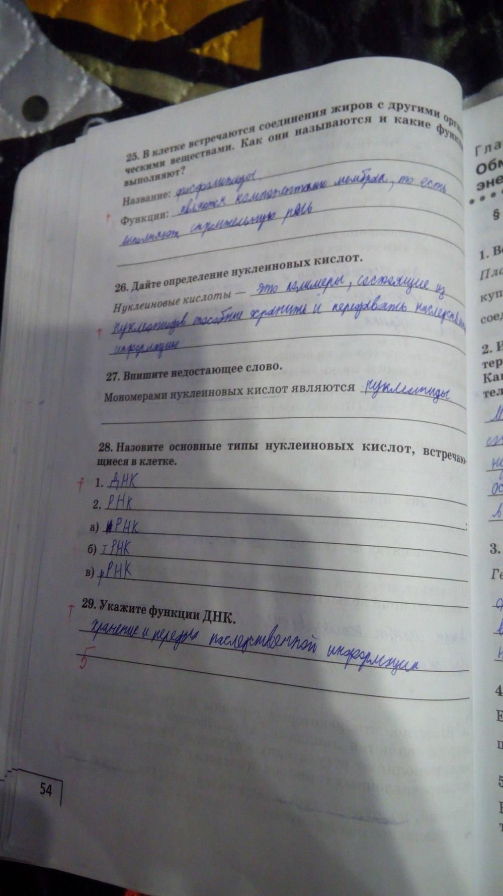 Гдз В Рабочей Тетради По Биологий 9 Класс Мамонтов Захаров Сонин