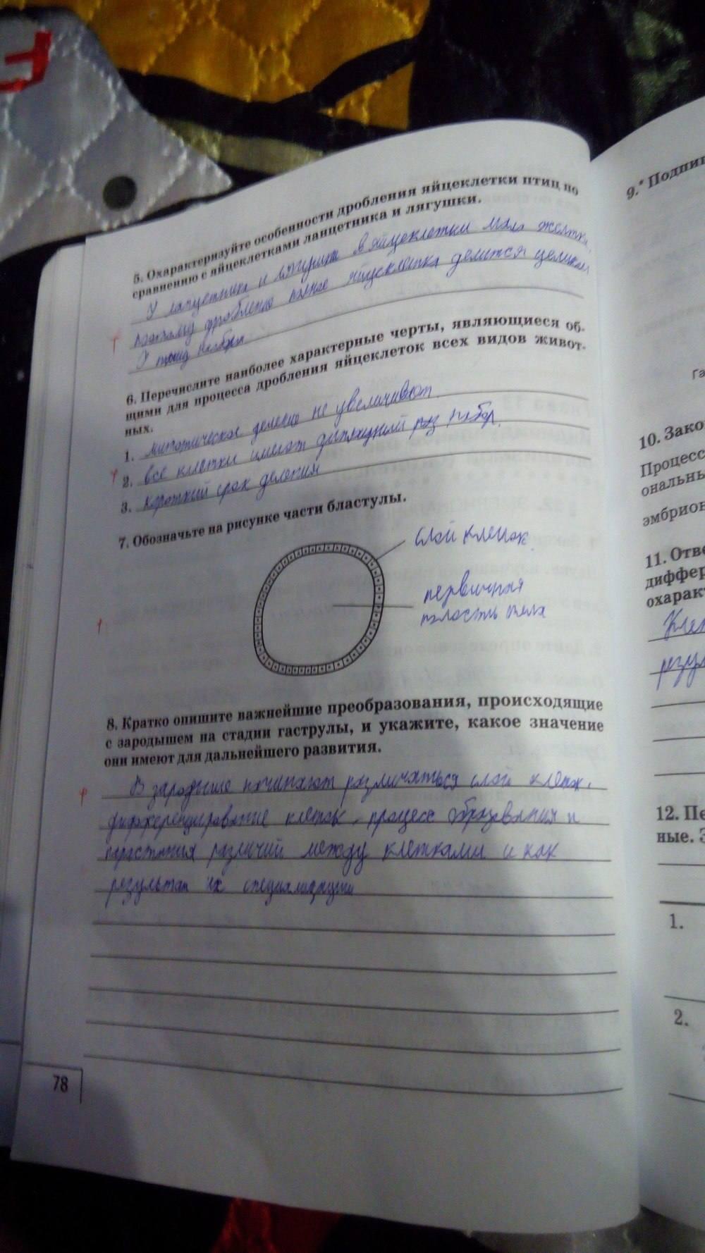 По класс автор гдз биологии рабочая тетрадь мамонтова 9