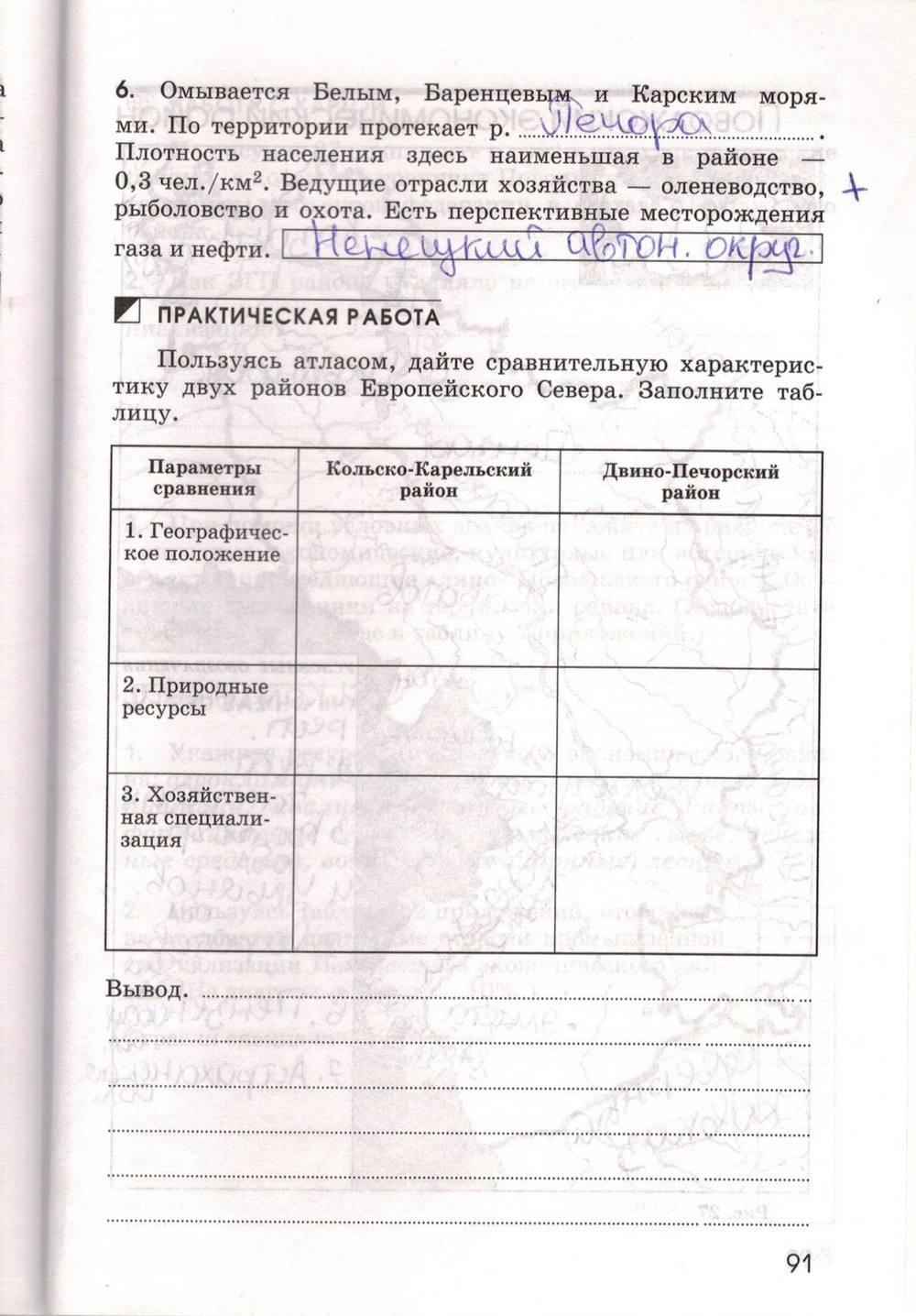 Класс решебник 9 тетрадь географии по марченко ответы рабочая