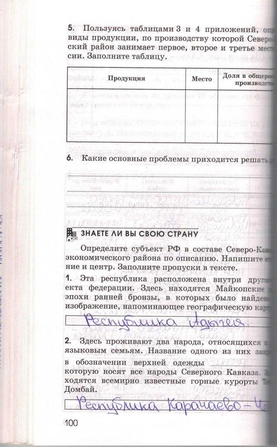 Решебник по географии 9 класс рабочая тетрадь марченко ответы